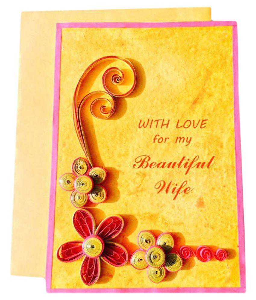 Bonitahub Yellow Wedding Anniversary Greeting Card Buy Online At