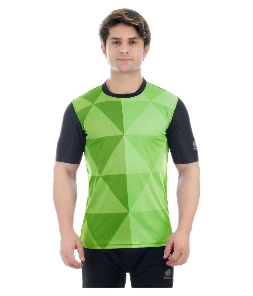 Skelow Green Round T-Shirt