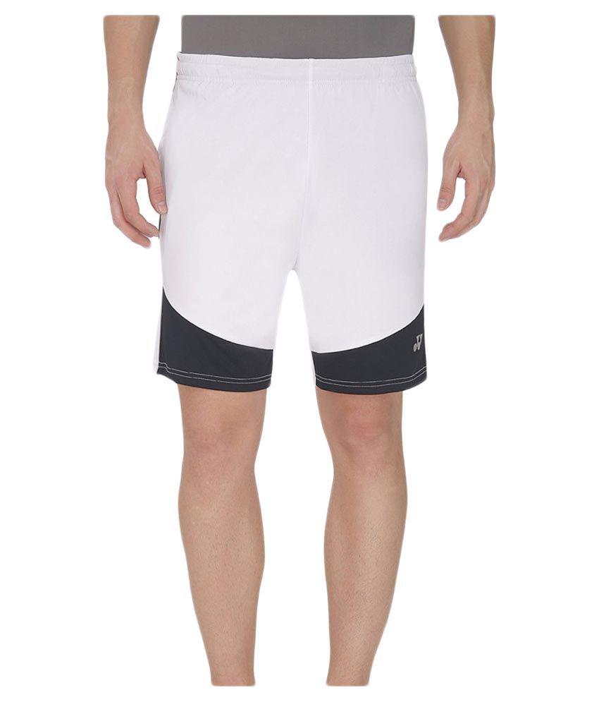 Yonex White Badminton Short