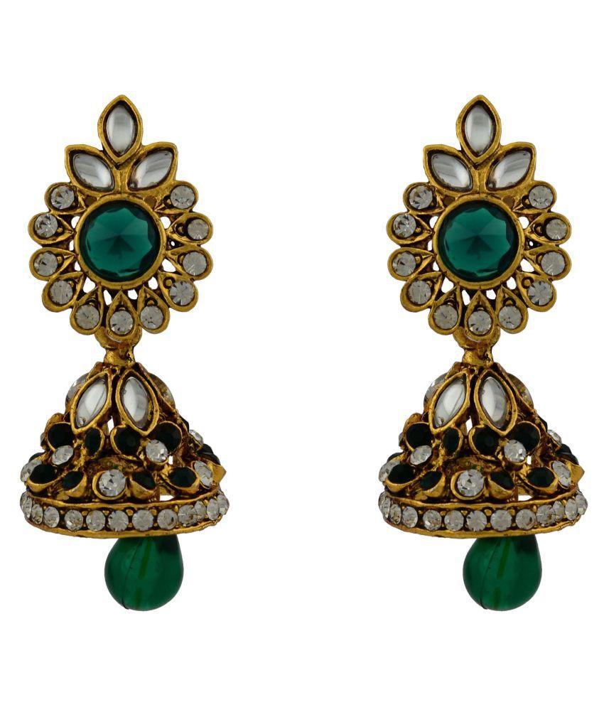 High Trendz Multicolour Jhumki Earrings Single Pair