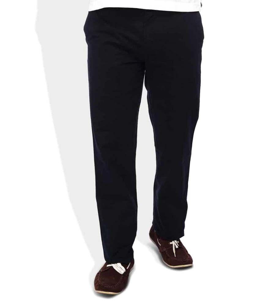 Colorplus Blue Regular Flat Trousers