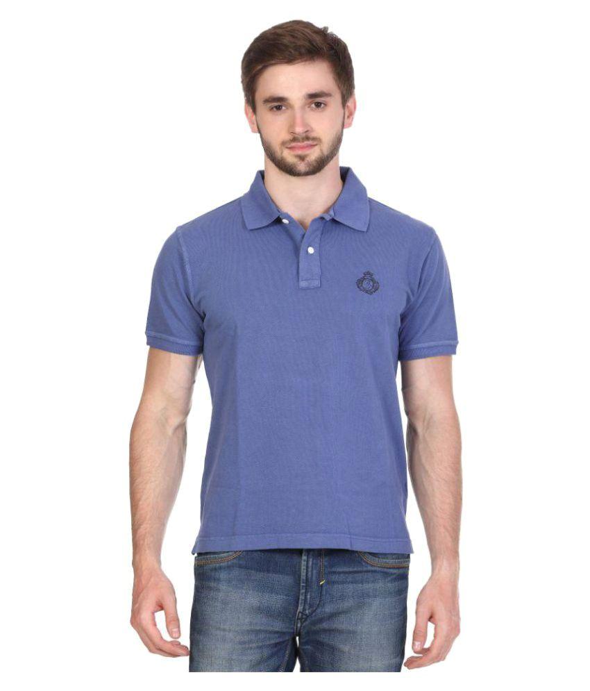 Alois Blue Henley T-Shirt