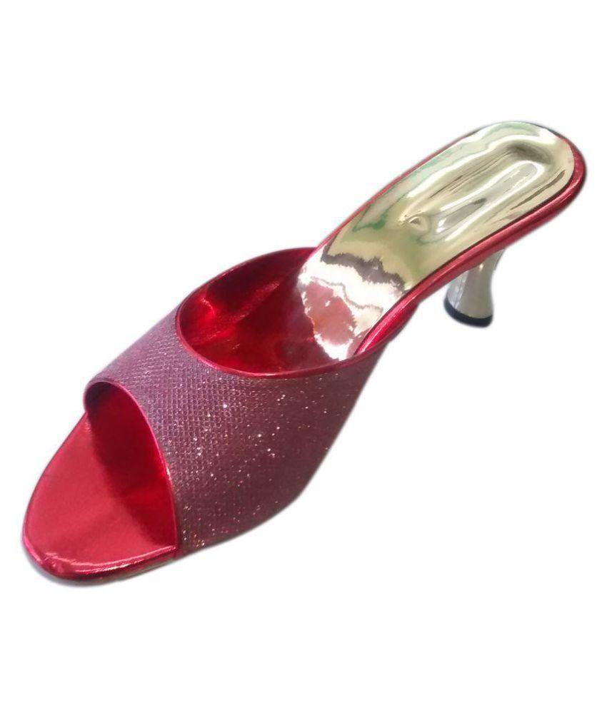 Skoll Red Kitten Heels