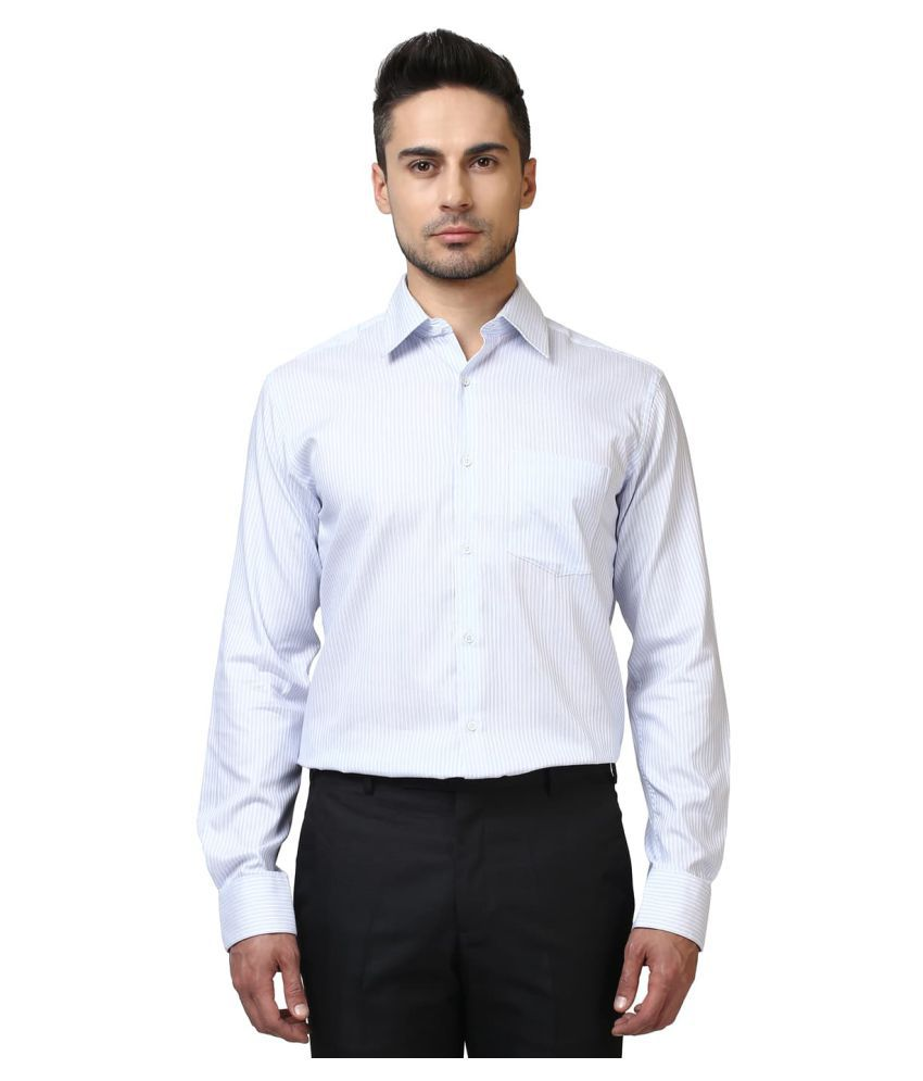 Park Avenue White Formal Slim Fit Shirt
