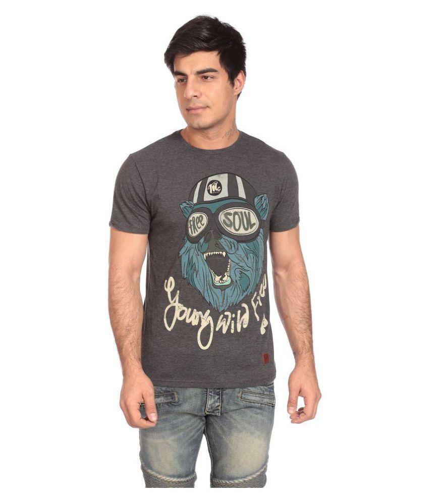 Motocult Grey Round T-Shirt
