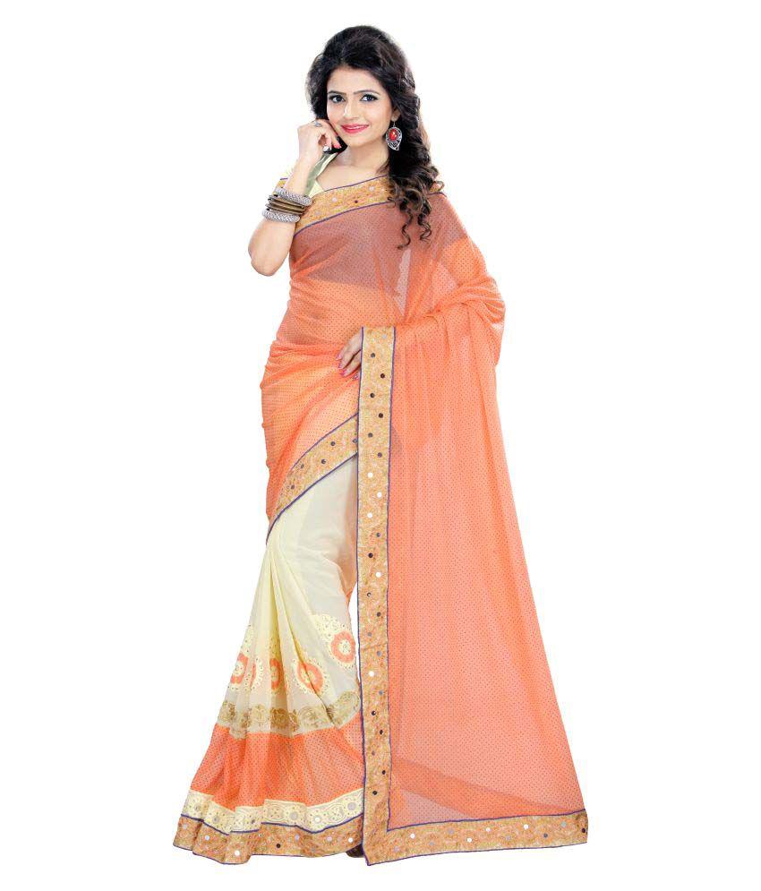 Fashions World Multicoloured Georgette Saree