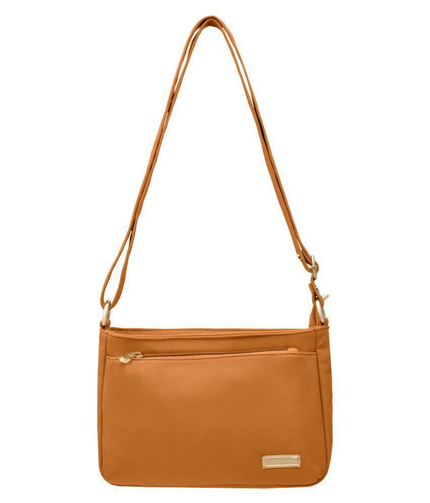 JFL - Jewellery For Less Tan P.U. Sling Bag