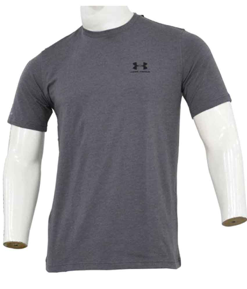 Under Armour Grey Cotton T Shirt