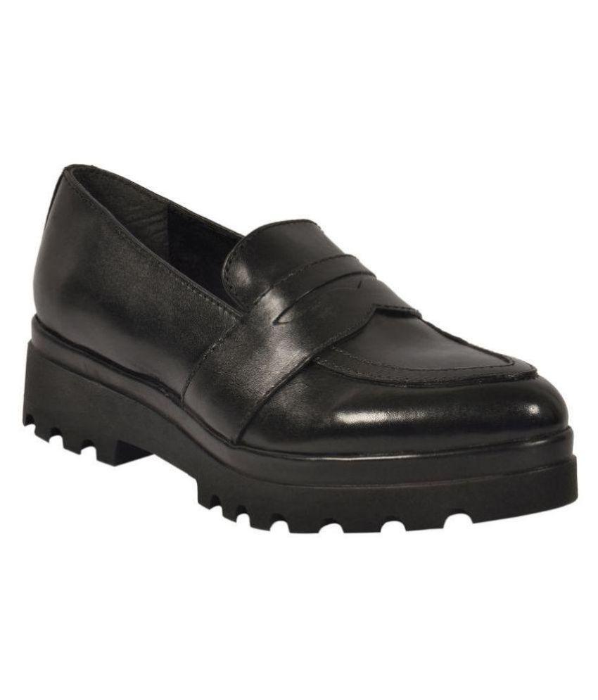 Salt N Pepper Black Casual Shoes