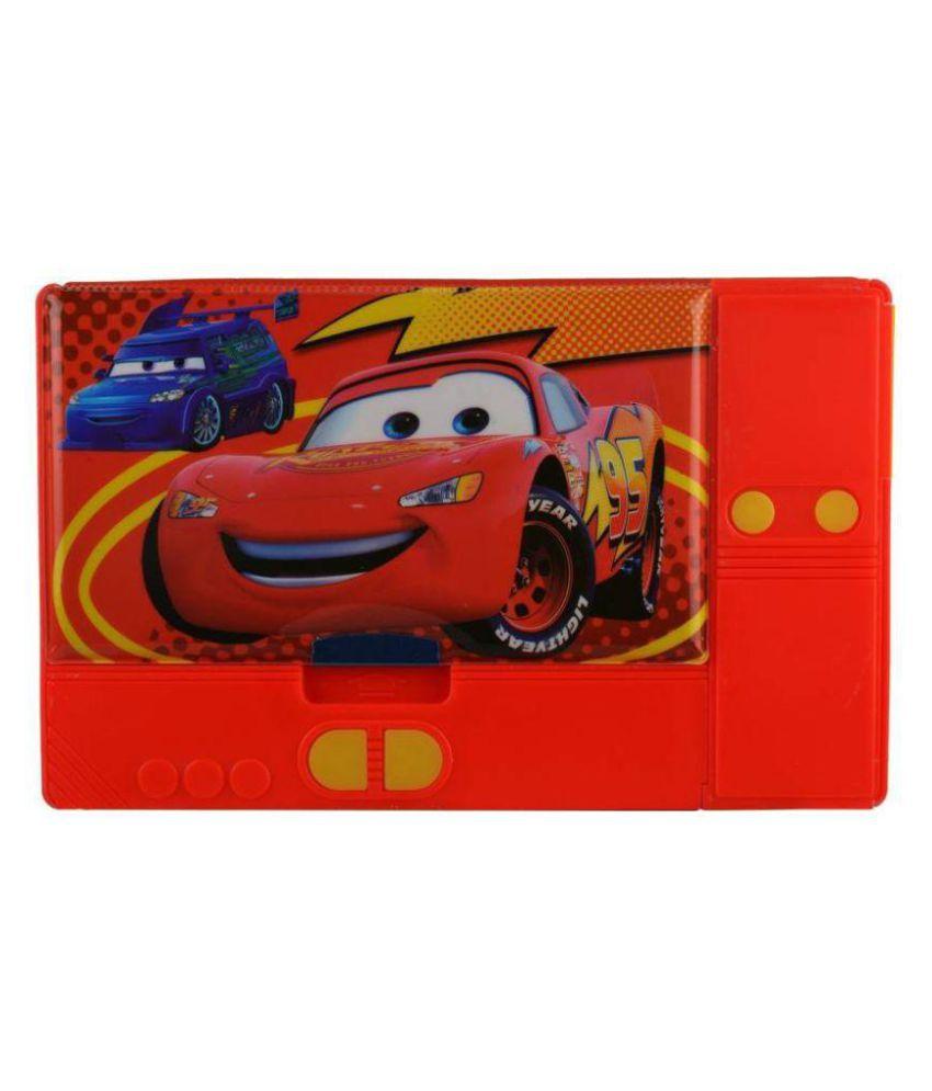 True Traders Multicolour Car Jumbo Art Plastic Pencil Box: Buy ...