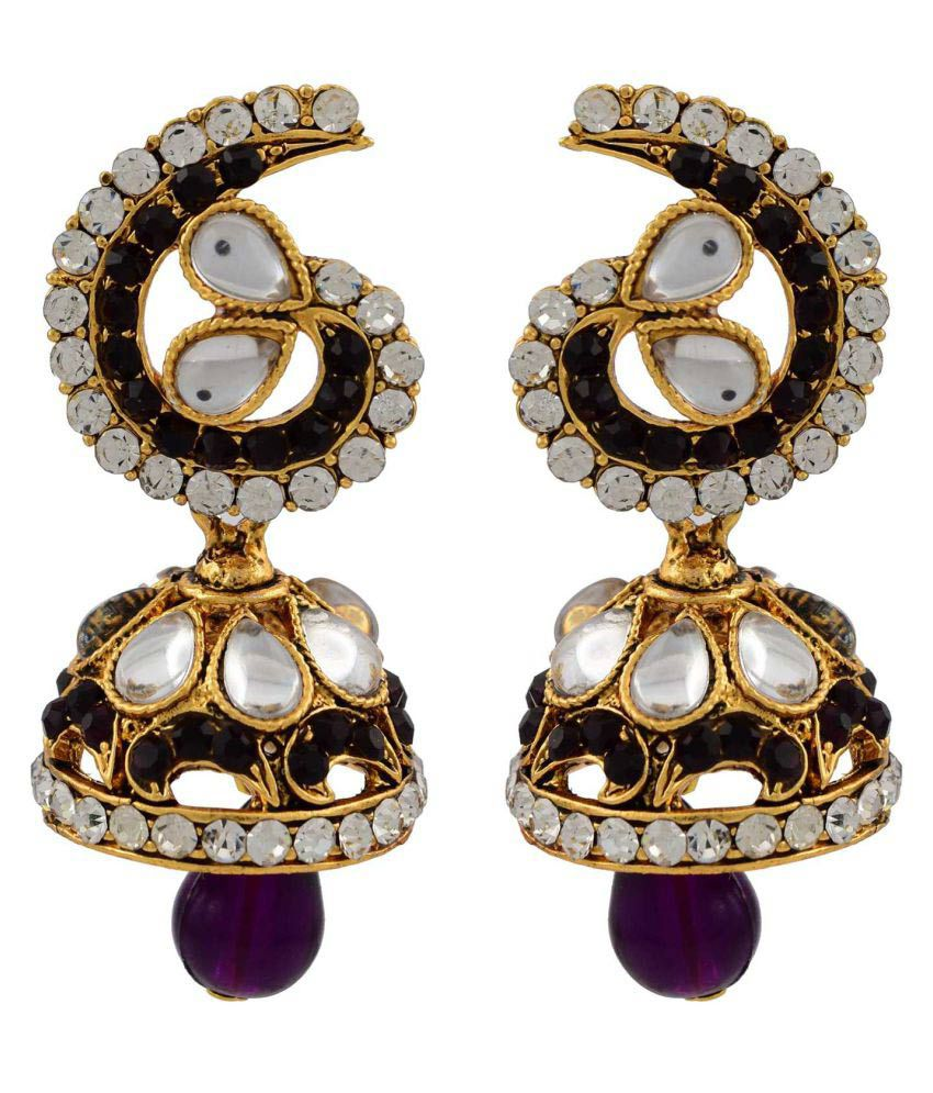 High Trendz Multicolour Jhumki Earrings Single Pair