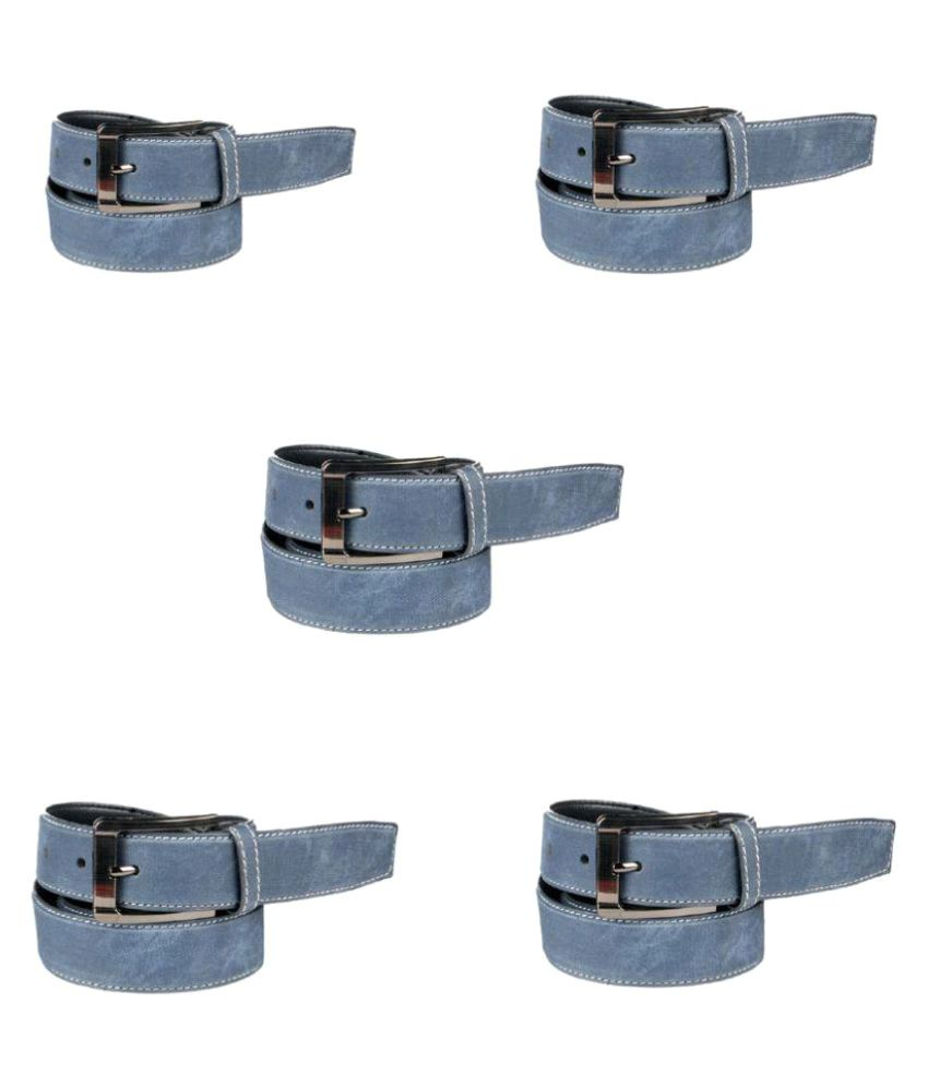 Klaska Blue Faux Leather Casual Belts