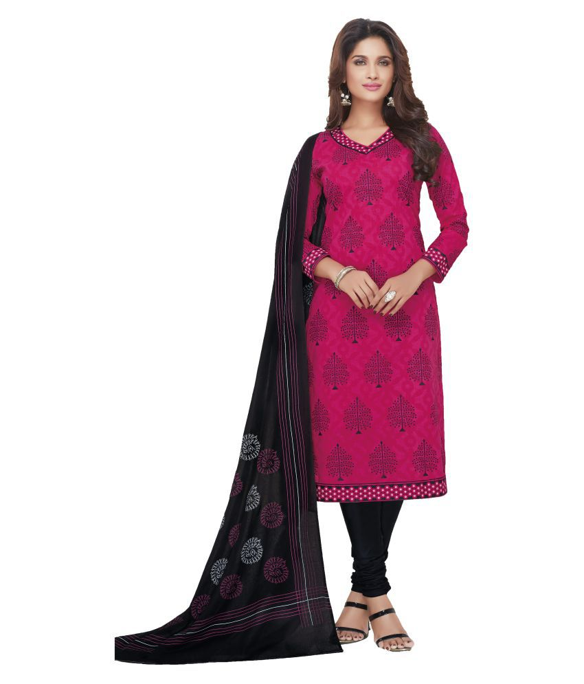 96620993b Sandhya Dress Material Pink and Purple Cotton Dress Material - Buy Sandhya Dress  Material Pink and Purple Cotton Dress Material Online at Best Prices in ...