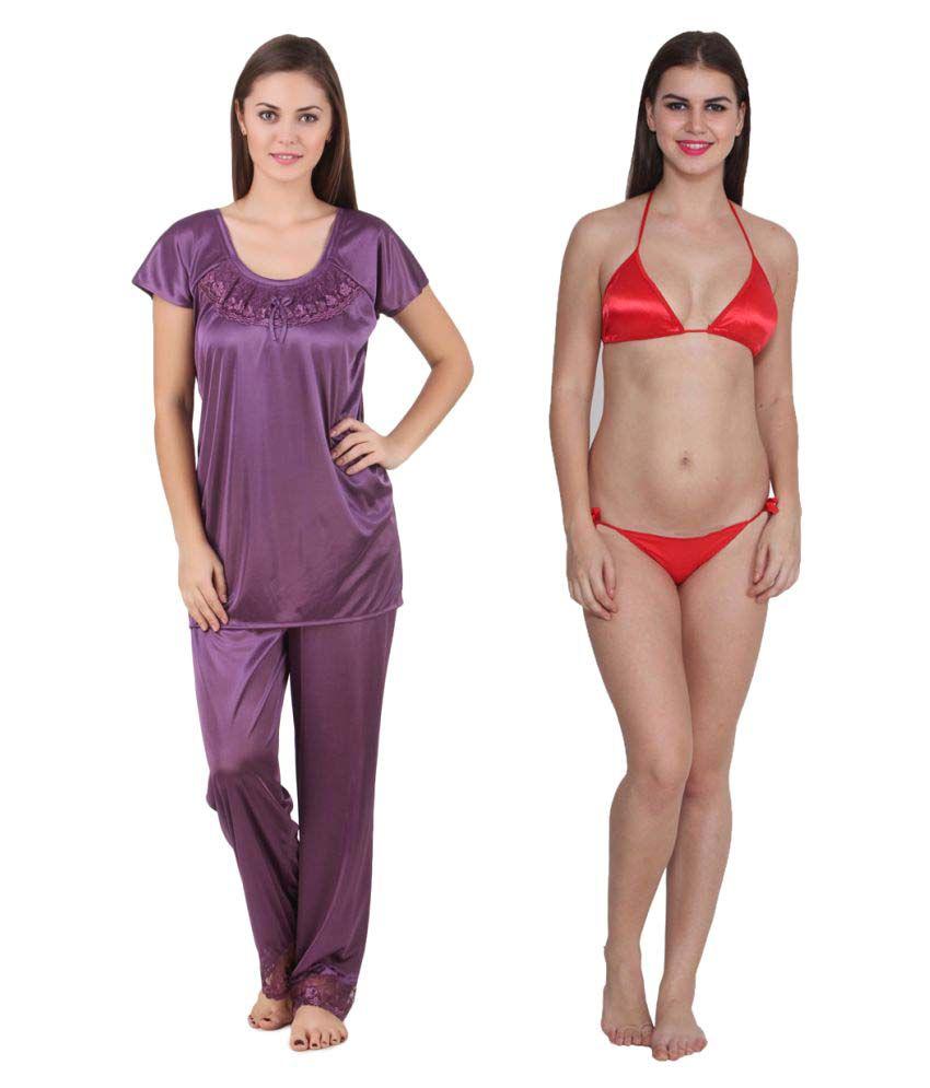 Ansh Fashion Wear Satin Nightsuit Sets