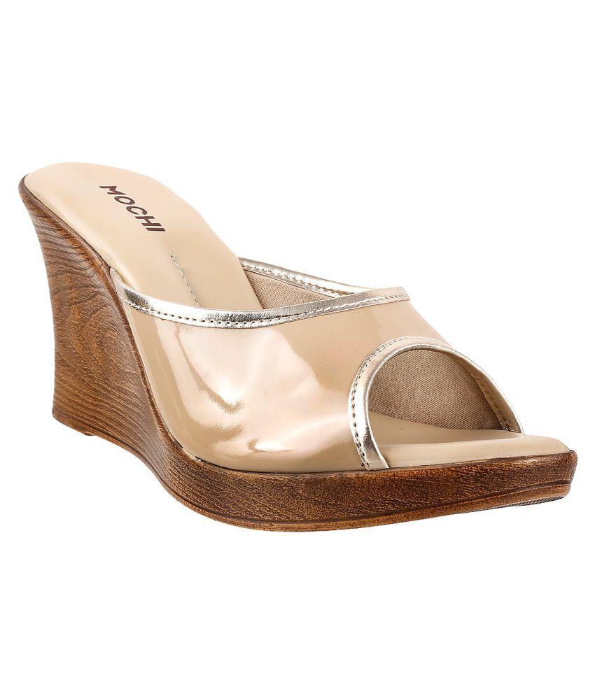 MOCHI BEIGE Wedges Heels