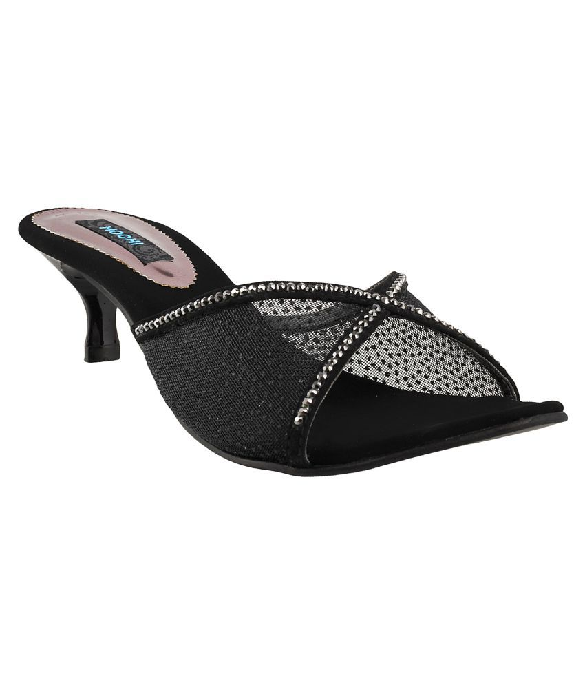 MOCHI BLACK Stiletto Heels