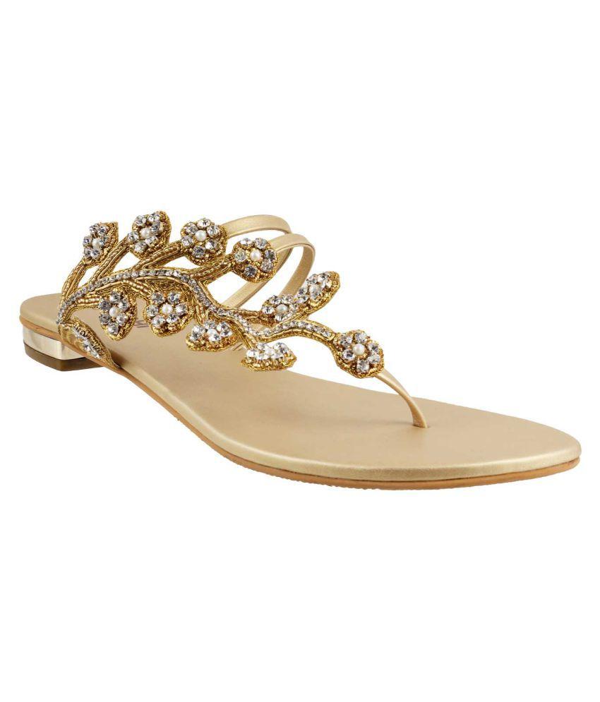 MOCHI GOLD Flat Heels