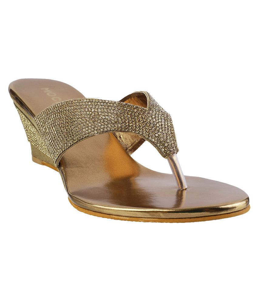 MOCHI GOLD Wedges Heels