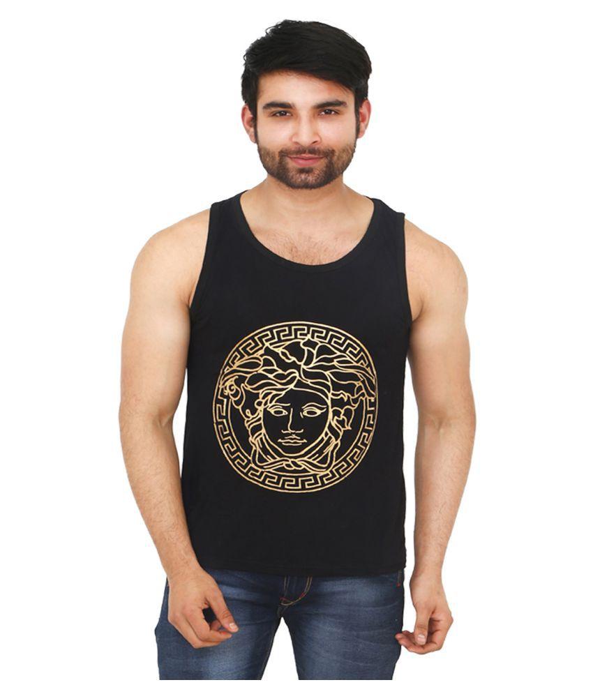 Black Unicorn Black Round T-Shirt