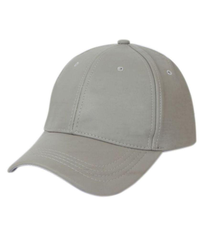 33caf4560c8 Babji White Plain Polyester Caps - Buy Online   Rs.