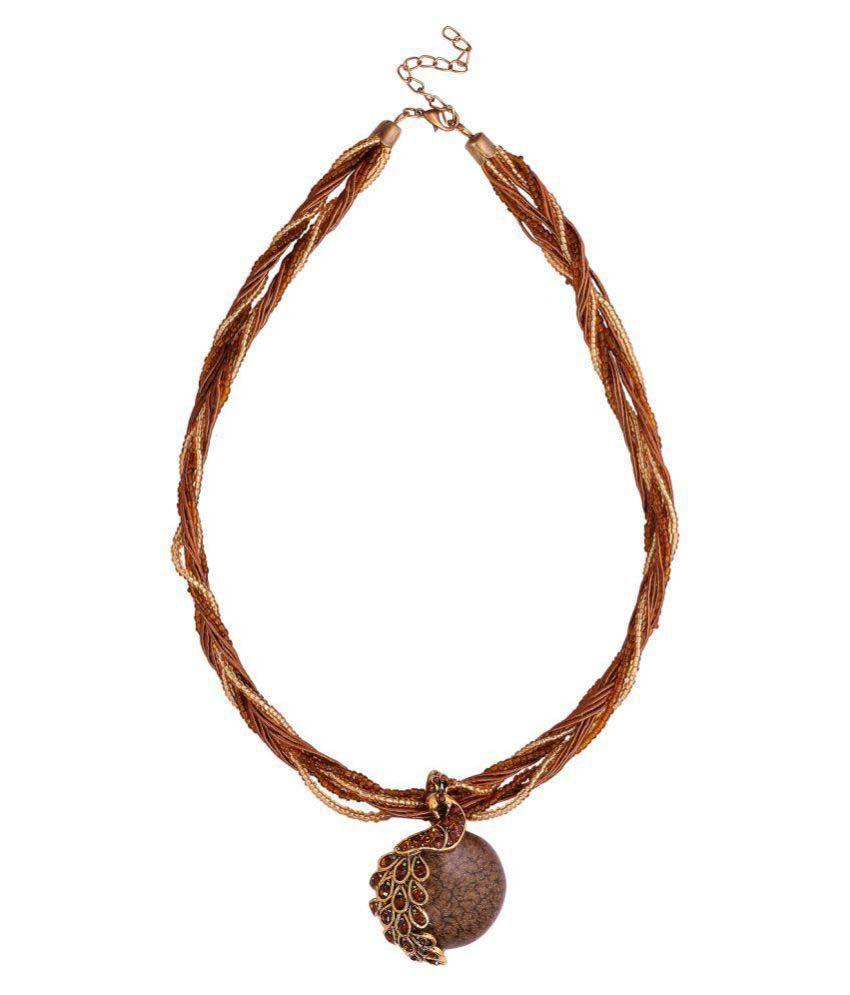 Eleganzza Designer Peacock Fashion Necklace for Women