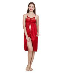 Queen Pretty Satin Nighty & Night Gowns - 628154101325