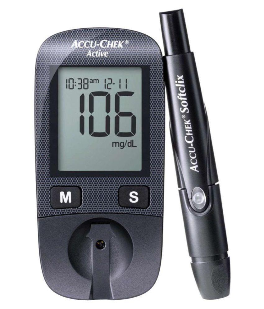 Accu Chek Active Glucose Monitor Free 10 Test Strips Buy Online  -> Aki Carpetes