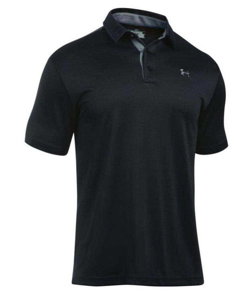 Under Armour Black Polyester T Shirt