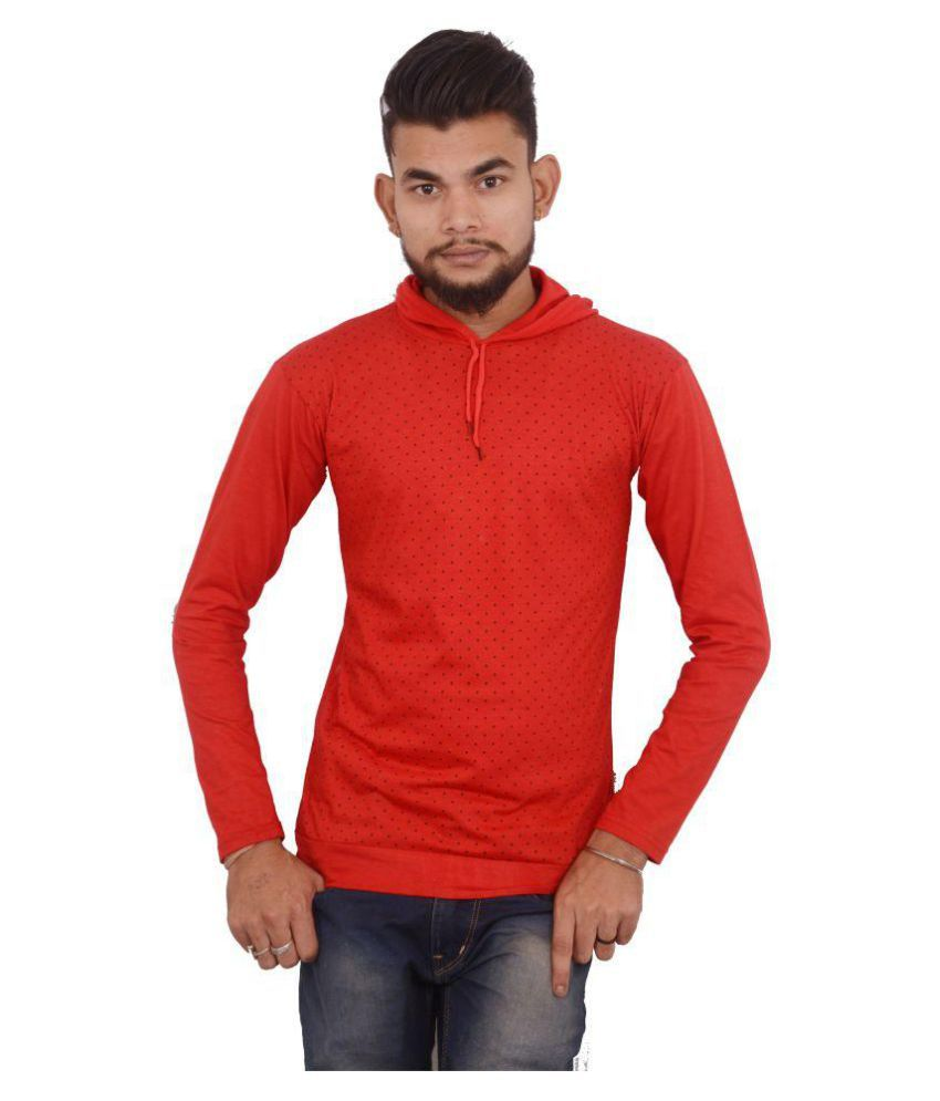 Hero & Piyush Red Hooded T-Shirt