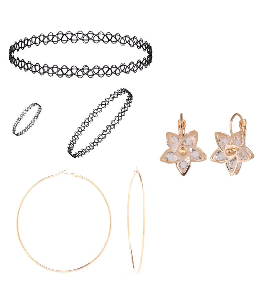 Efulgenz Combo of 1 Pendant Set With 1 Ring & 1 Bracelet and 2 Trendy Earring