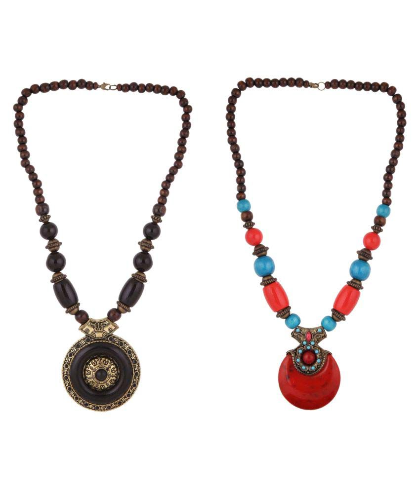 Efulgenz Combo of 2 Neckalces for Girls and Women