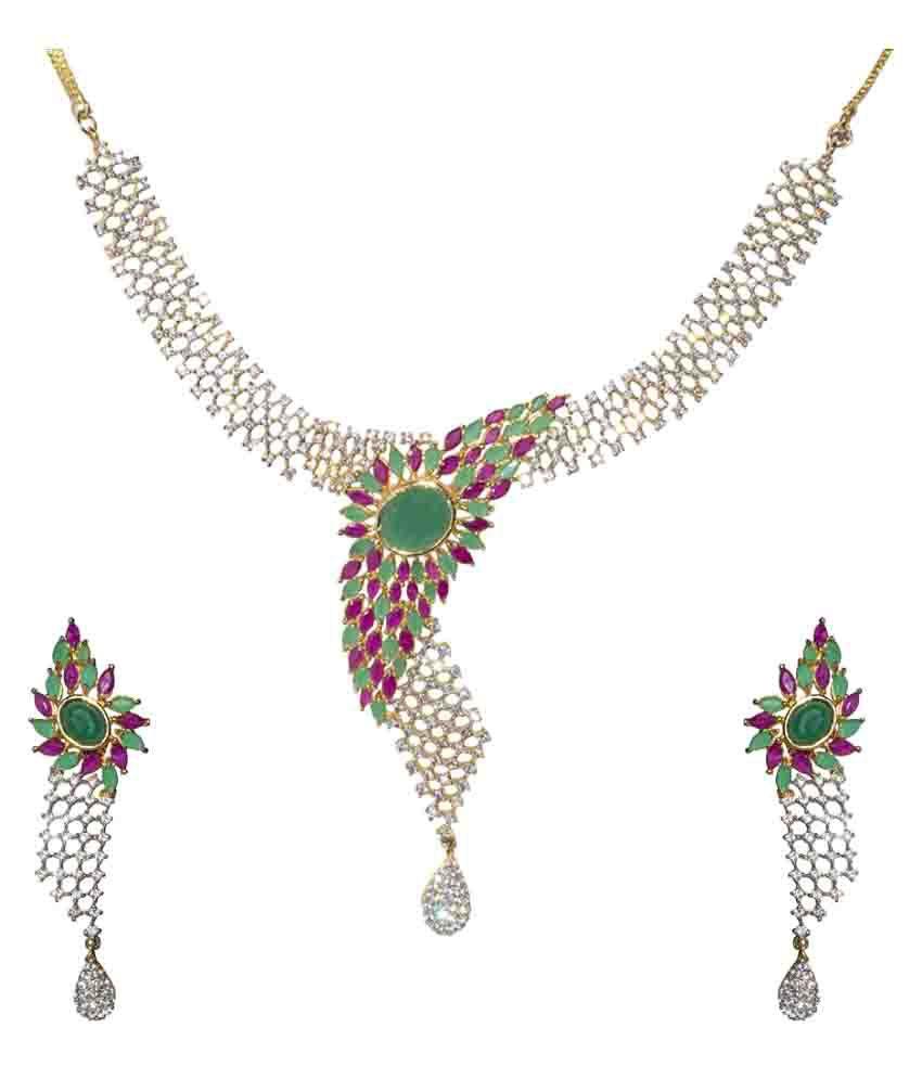 Jewellerkaka Sparkling Garland Necklace Set