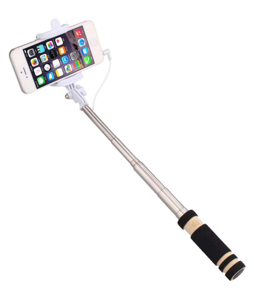 jiyanshi aux wire selfie stick black selfie sticks accessories onli. Black Bedroom Furniture Sets. Home Design Ideas
