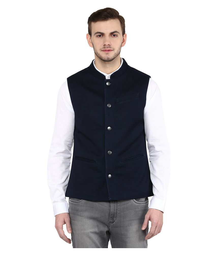 United Colors of Benetton Blue Solid Casual Jackets