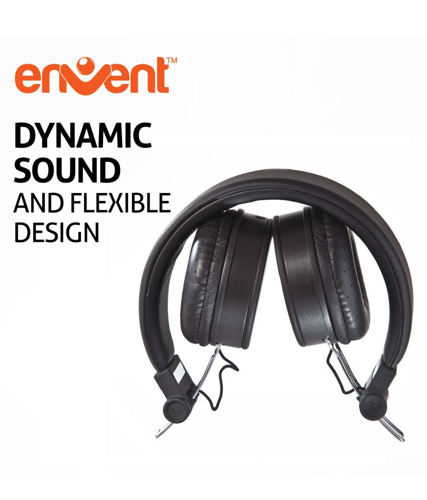Envent Livefun 550 Over Ear Wireless Headphones With Mic Black