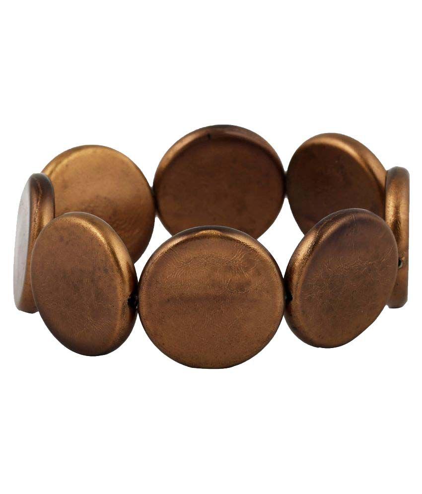 Ahilya Brown Designer Plastic Bracelet for Women