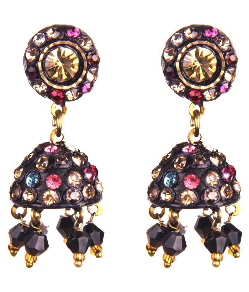 Makezak Multicolour Designer Jhumkis for women and girls.