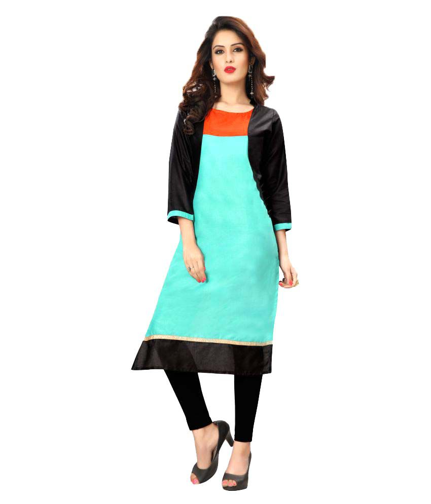 Skyzone Group Multicoloured Cotton Straight Kurti
