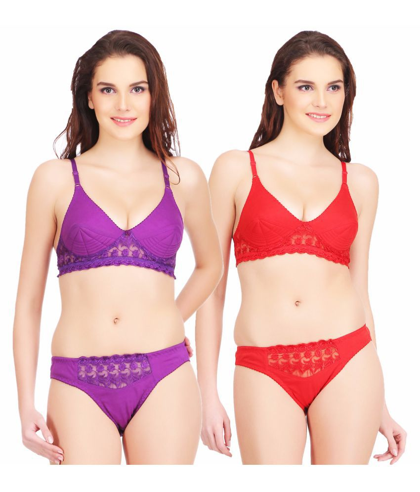 bbc9d6e2a Buy Urbaano Cotton Bra and Panty Set Online at Best Prices in India -  Snapdeal