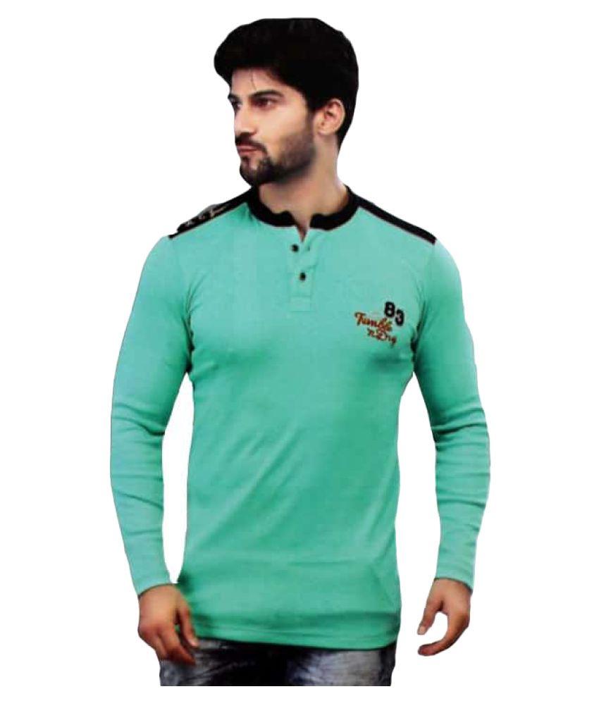 Daffy Dude Green Henley T-Shirt