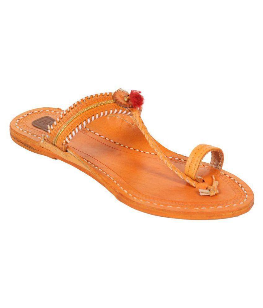 N-Gal Beige Flat Ethnic Footwear