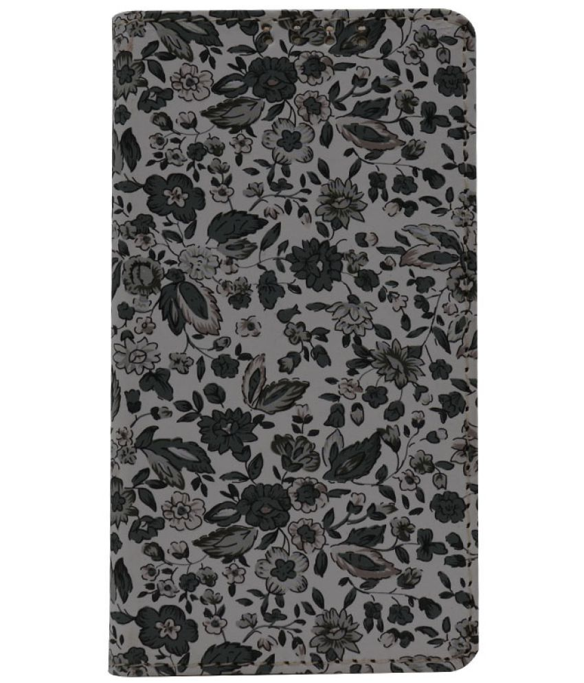 Gionee Elife E6 Flip Cover by Dsas - Grey