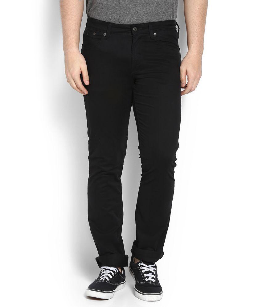 Nautica Black Slim Flat Trousers