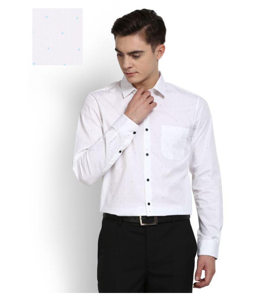 Peter England White Formal Slim Fit Shirt