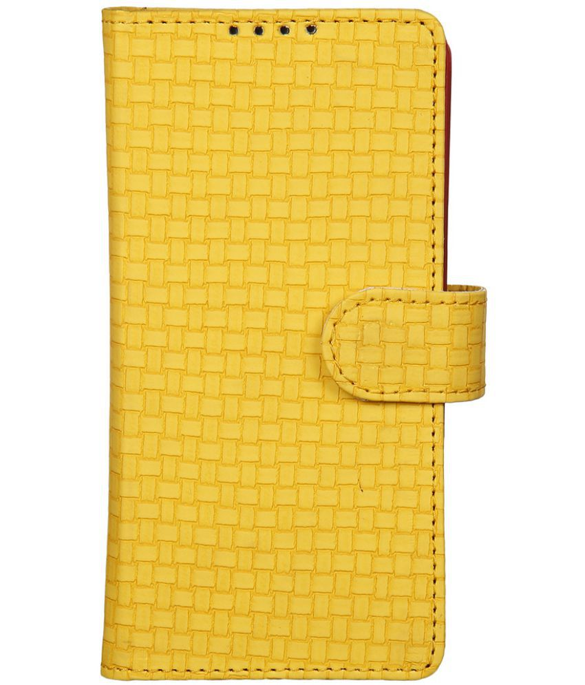 Apple iPhone 5 Flip Cover by Dsas - Yellow