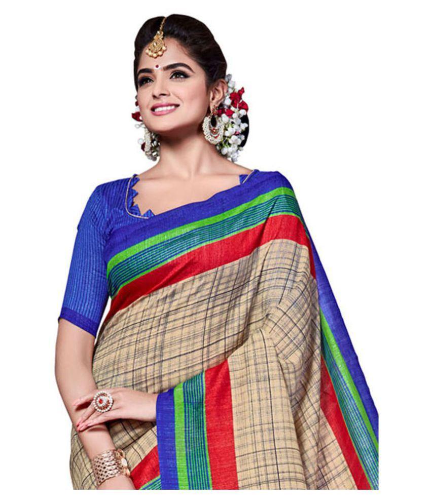 Anshika Lifestyle Multicoloured Cotton Blend Saree - Buy ...