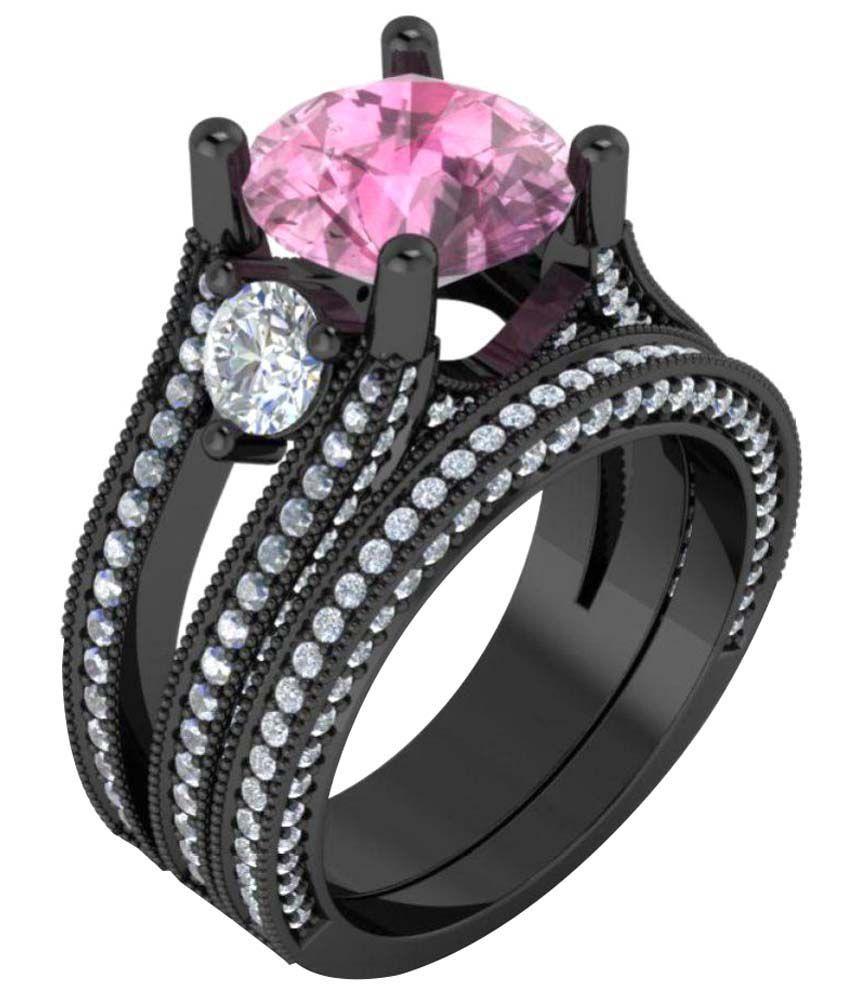 Naitik Jewels 92.5 Silver Cubic zirconia Rings Combo