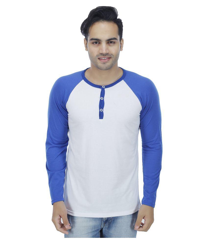 Christy World White Henley T-Shirt