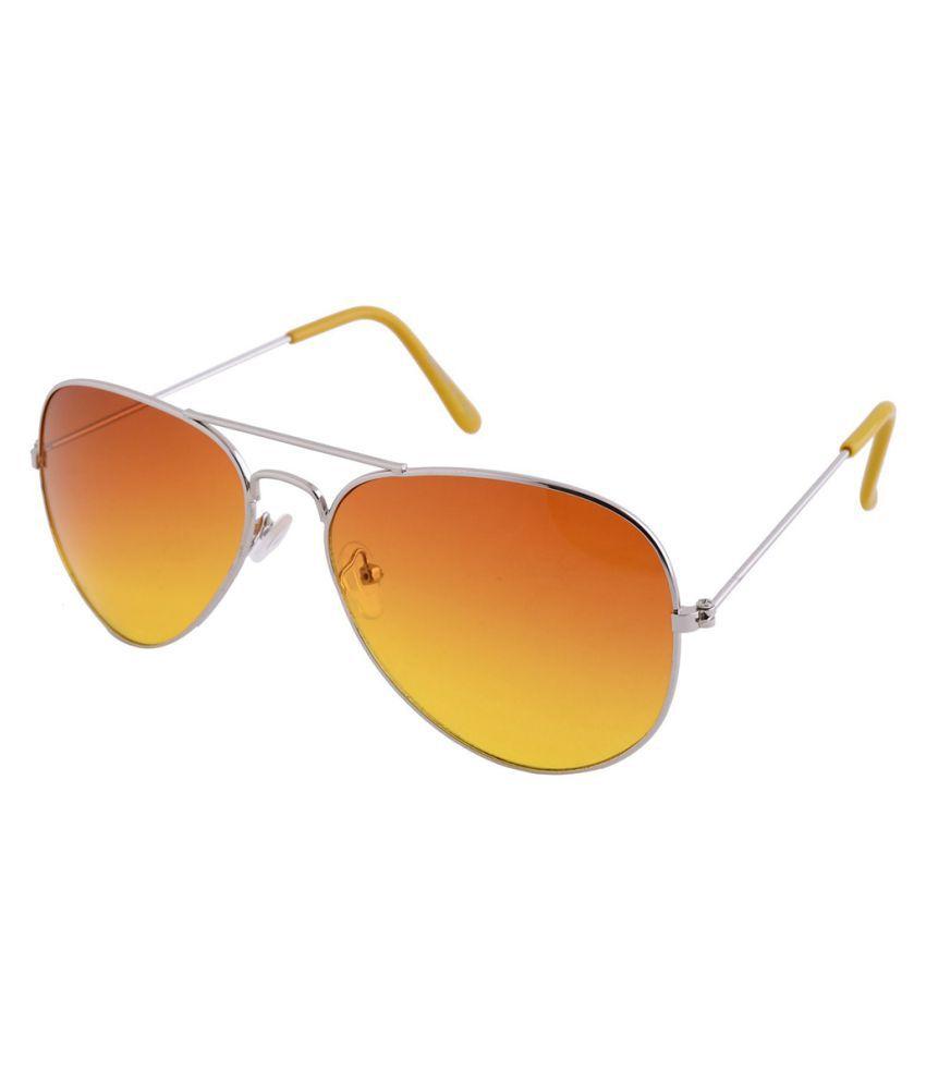 LandLord Orange Aviator Sunglasses ( 2038 )