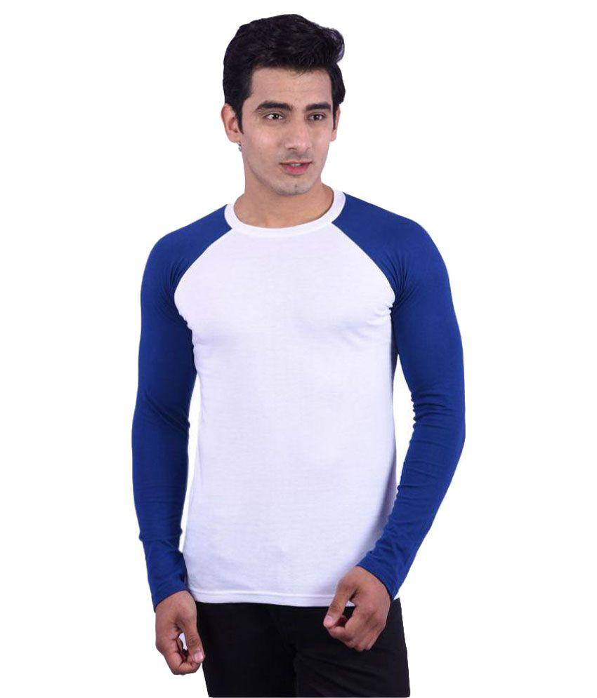 Rap Fabrics White Round T-Shirt